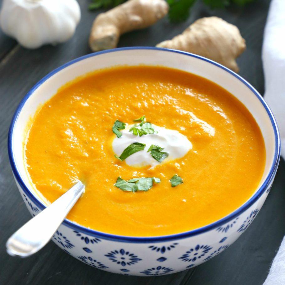 Winter Wellness recipe: Creamy Carrot Ginger soup