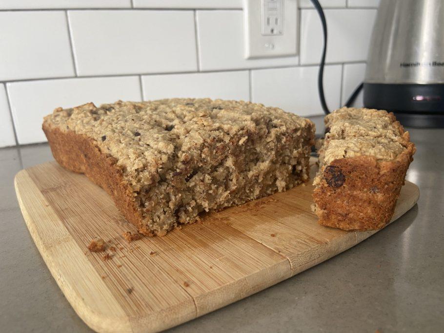 Healthy banana oat bread recipe